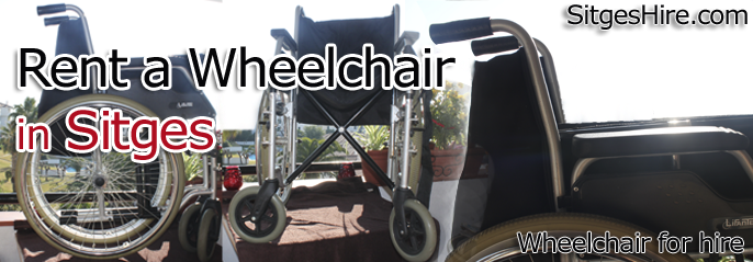 Wheelchair wheel chair for hire rental in Sitges